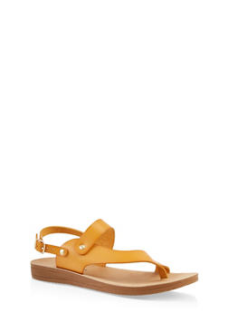 Asymmetrical Ankle Strap Sandal - 1112056634445
