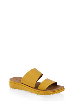 Two Band Platform Slide Sandals - 1112056635003