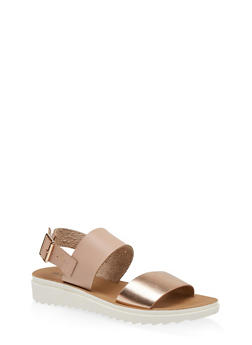 Two Band Back Strap Sandals - 1112056635010