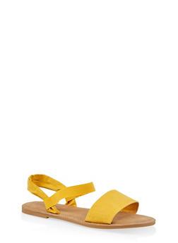 Elastic Ankle Strap Sandals - 1112068416468