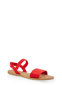 Elastic Ankle Strap Sandals - 1112068416468