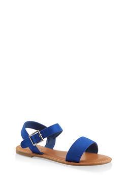 Single Buckle Sandals - 1112073541008