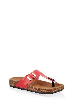 Thong Footbed Slide Sandals - 1112073541018