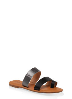 Two Band Toe Loop Sandals - 1112073541021