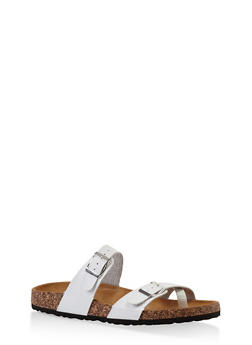Double Strap Footbed Sandals - 1112073541682