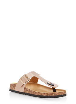 Thong Footbed Sandals - ROSE GOLD - 1112073541704
