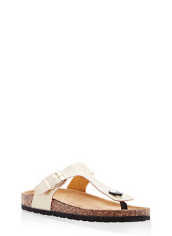 Thong Footbed Sandals - GOLD - 1112073541704