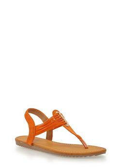 Multi Elastic Strap Thong Sandals - 1112073541734