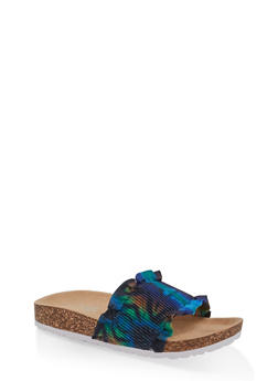 Ruffled Footbed Sandals - 1112074707725