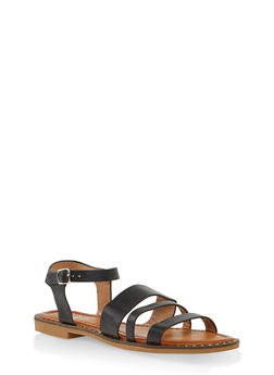 Studded Sole Ankle Strap Sandals - 1112074803830