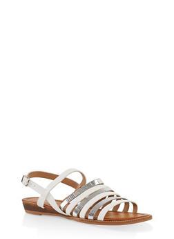 Multi Strap Sandals - WHITE - 1112074807437