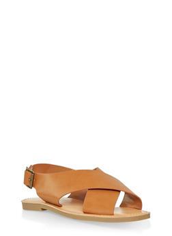 Criss Cross Sandals - TAN - 1112074967572
