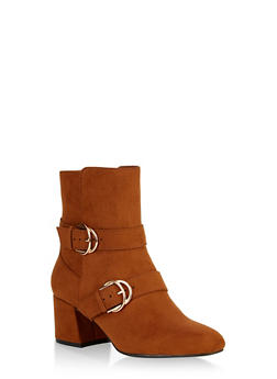 Double Buckle Booties - 1113004063429