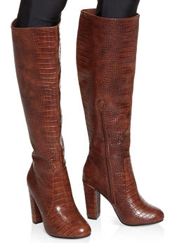 Knee High Block Heel Boots - 1113004063737