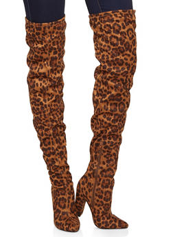 Block Heel Over the Knee Boots - 1113004067765