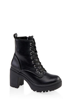 Chunky Lace Up Boots - 1113014067342