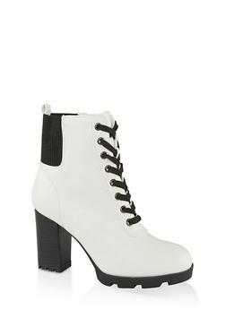 Chunky Heel Booties - 1113014067452