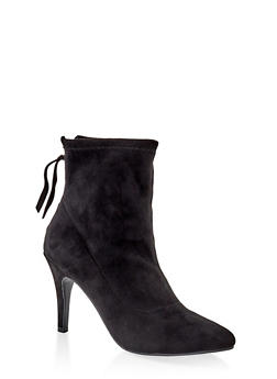 Neoprene Pointed Toe Booties - 1113027616216