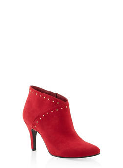 Studded High Heel Booties - 1113027616719