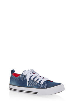 Ripped Canvas Sneakers - 1114062126921