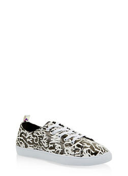 Printed Lace Up Sneakers - 1114062720371