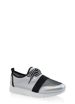 Fishnet Platform Sneakers - 1114062723475