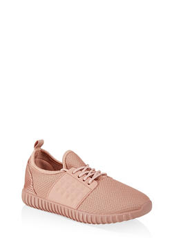 Knit Lace Up Sneakers | 1114062723534 - BLUSH - 1114062723534