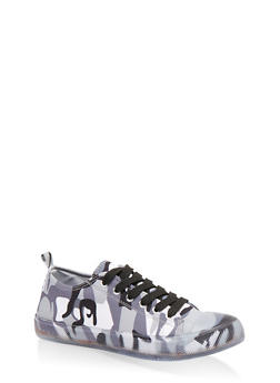 Clear Sole Lace Up Sneakers - 1114062725655