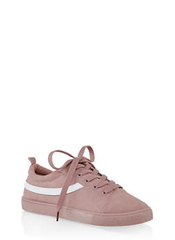 Lace Up Skate Sneakers - MAUVE - 1114062727528