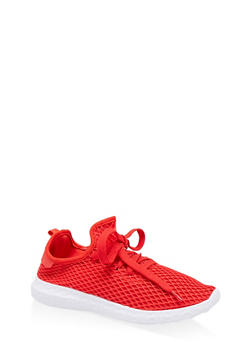 Mesh Athletic Sneakers - RED - 1114062729363