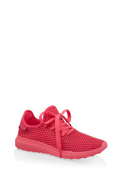 Mesh Athletic Sneakers - FUCHSIA - 1114062729363