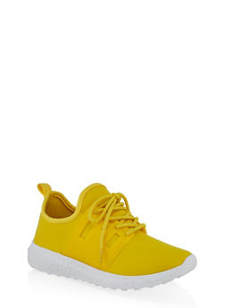 Neoprene Lace Up Athletic Sneakers - 1114062729364