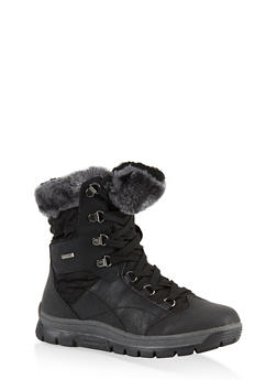 Weatherproof Sherpa Lined Boots - 1115067245297