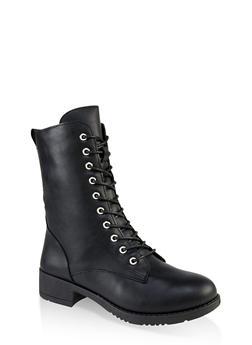Lace Up Combat Boots | 1116004063475 - 1116004063475