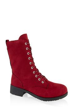 Lace Up Combat Boots   1116004063475 - 1116004063475