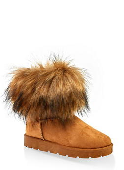 Faux Fur Cuff Boots | 1116004063769 - TAN S - 1116004063769