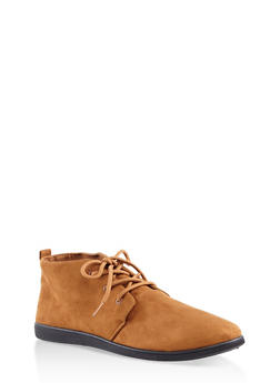 Lace Up Ankle Booties - COGNAC - 1116004066292