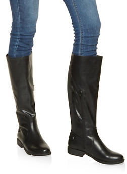 04c7282be44 Gore Detail Tall Boots - BLACK - 1116004066671