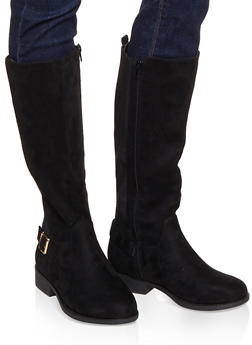 Gore Tall Riding Boots - BLACK SUEDE - 1116004066696