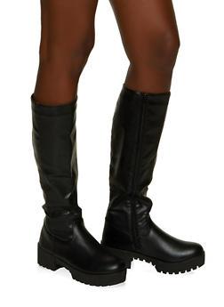 Tall Platform Boots - BLACK - 1116004067645