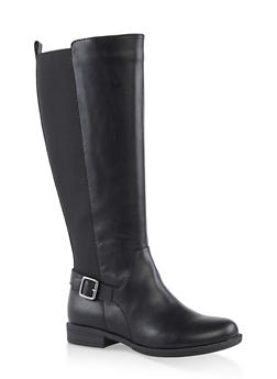 Tall Stretch Riding Boots - BLACK - 1116004067674