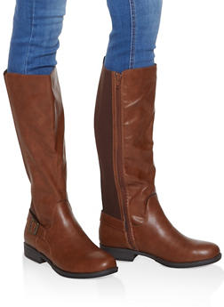 Tall Stretch Riding Boots - CHESTNUT - 1116004067674