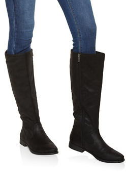 Tall Side Zip Boots - BLACK - 1116004067746