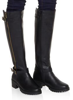 Tall Moto Boots - 1116004069363