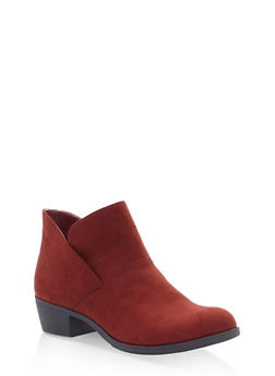 Slip On Booties - RUST - 1116027615225