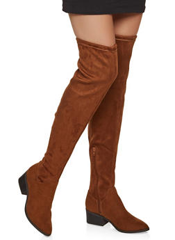 Scrunched Over the Knee Boots - TAN S - 1116027616723