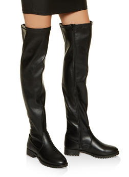 Over the Knee Boots - BLACK - 1116056633728