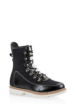 Lace Up Boots - BLACK - 1116073116664
