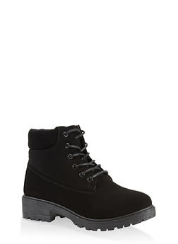 Lace Up Work Boots | 1116073541032 - BLACK - 1116073541032