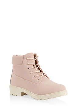 Lace Up Work Boots | 1116073541032 - NUDE - 1116073541032